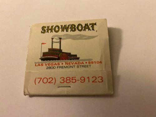 SHOWBOAT Hotel & Casino Las Vegas MATCHBOOK  - Vintage!