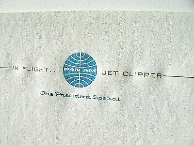 Vintage (2) Sheets Pan American Jet Clipper NOS In-Flight Stationery Pan Am (Jet 2 Flights)