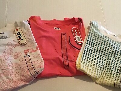 NWT Fila Sport Womens Graphic T-shirt Size Large Lot Of 3
