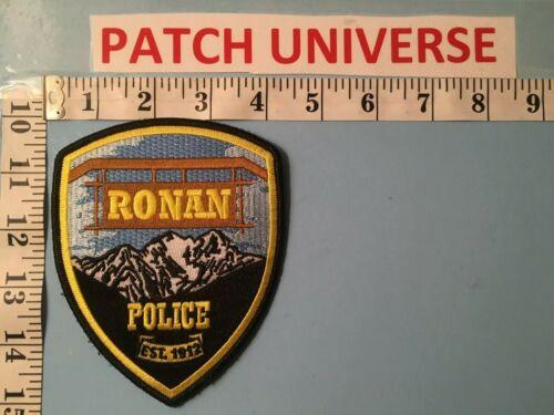 RONAN  MONTANA  POLICE SHOULDER PATCH  J066