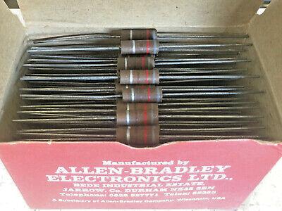 Box Of 100 Allen-bradley Morganite 820 Ohm Resistors 1.0w 1 Watt Nos 10