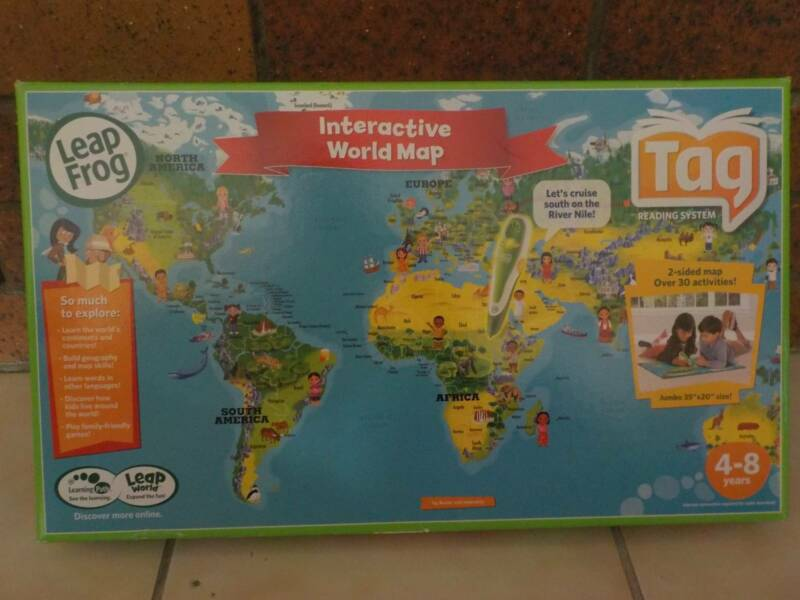Leapfrog interactive world map includes tag reading system toys 1 of 3 gumiabroncs Choice Image
