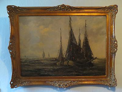 XXL Ölbild Ölgemälde Gemälde Seefahrt Segelschiff Maritim Schiff Bild signiert
