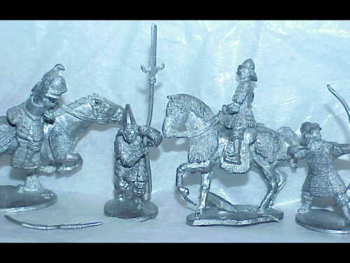 11 Japanese Samurai 28mm metal Medieval Feudel AD&D Bushido Clan War figures