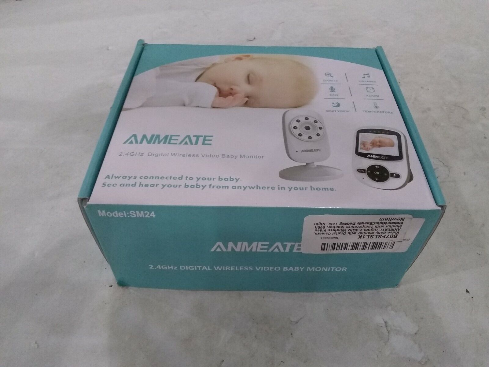 Video Baby Monitor With Digital Camera, ANMEATE Digital 2.4Ghz Wireless Camera - $36.99