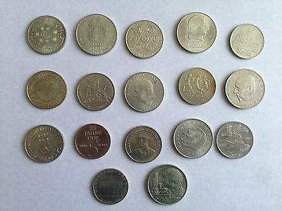 17 DDR Münzen, 5 10 und 20 Mark, Schnäppchen !!!