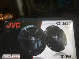 "Two 6 1/2"" JVC car speakers brand new never used!"