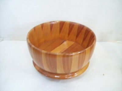 Beautiful Hand Made Wooden Pedestal Serving Decorative Bowl  Free Shipping, H5