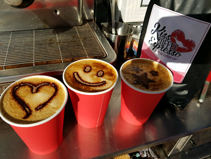 Mobile coffee cart party service