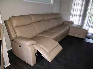Leather Lounge - Electric Recliner Raceview Ipswich City Preview