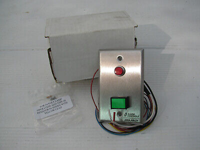 NEW Assa Abloy Model SLP-1L Alarm Controls Green Push Button, red led Wall plate Green 1l Wall
