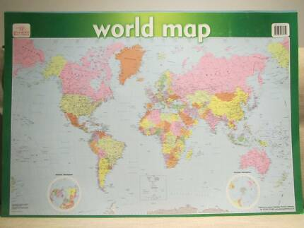 Australian geographic world map miscellaneous goods gumtree world map and my first world map gumiabroncs Choice Image