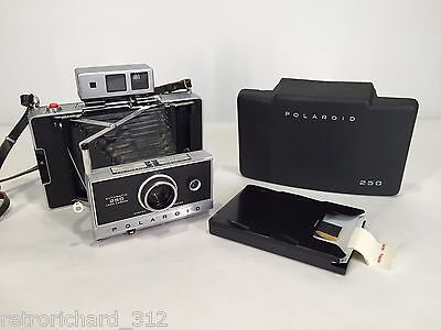 Vtg POLAROID 250 Range Finder Camera Zeiss Lens Rare Retro Film Instant Art 70s
