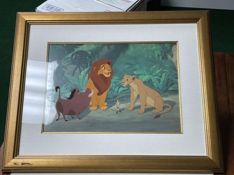 Disney The Lion King Animation Cel Introductions LE 80/500 COA Pumba Timon Nala