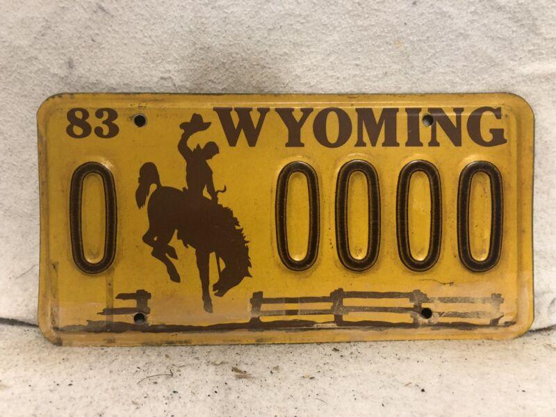 1983 Wyoming  Sample License Plate