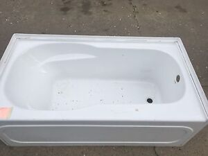 New never used White Fiberglass bathtub