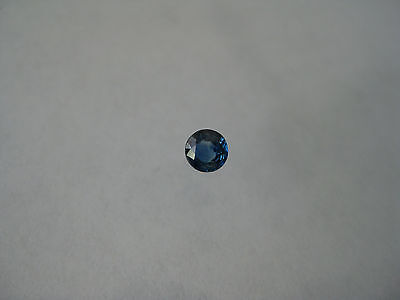 3.8 MM. Round Natural Blue Sapphire Weight .26 Carats. Loose Gemstone.