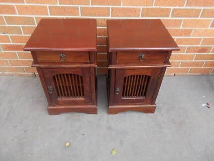 Bedroom Timber Bedside Tables 1 drawer &  1 cupboard