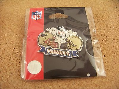 2008 NFL Playoffs pin NE New England Patriots vs San Diego Chargers