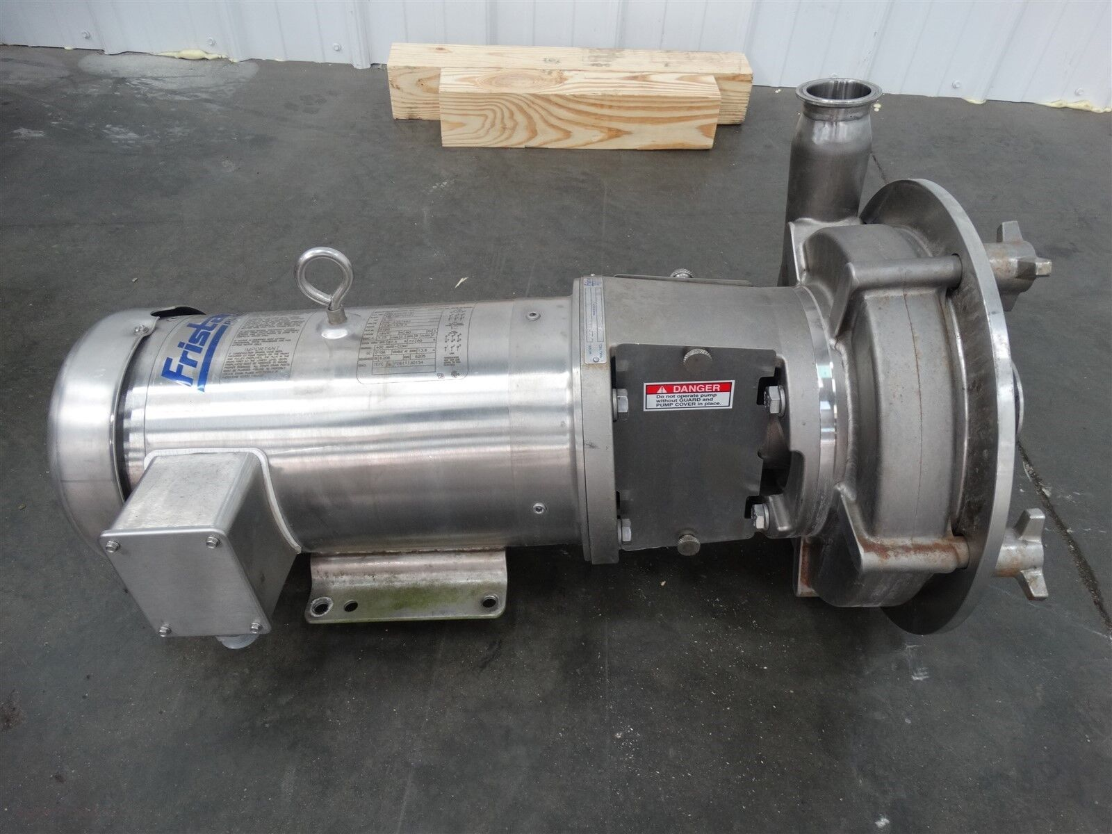 Fristam FPR3451-240 Centrifugal Pump 5HP, 3PH 208-230/460V, Fr: 184TC (D4316)