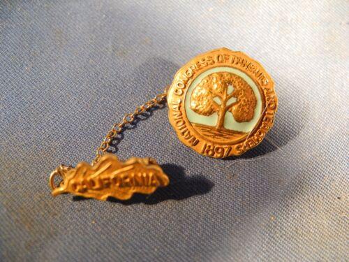 Vintage California National Congress of Parents And Teachers Ribbon Pin (NICE!)