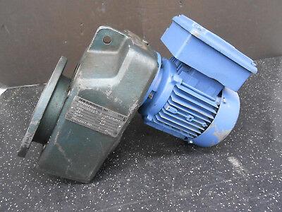 Sew Eurodrive Dft7104 Gear Reducer W Sew Electric Motor Faf40dtr71c4