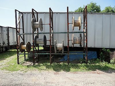"13 - 45"" SECTIONS OF CABLE WIRE REEL STORAGE RACK SYSTEM 13' HIGH by 42"" DEEP"