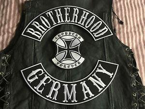 Brotherhood Germany Choppers Forever komplettes Set MC Harley ohne Kutte