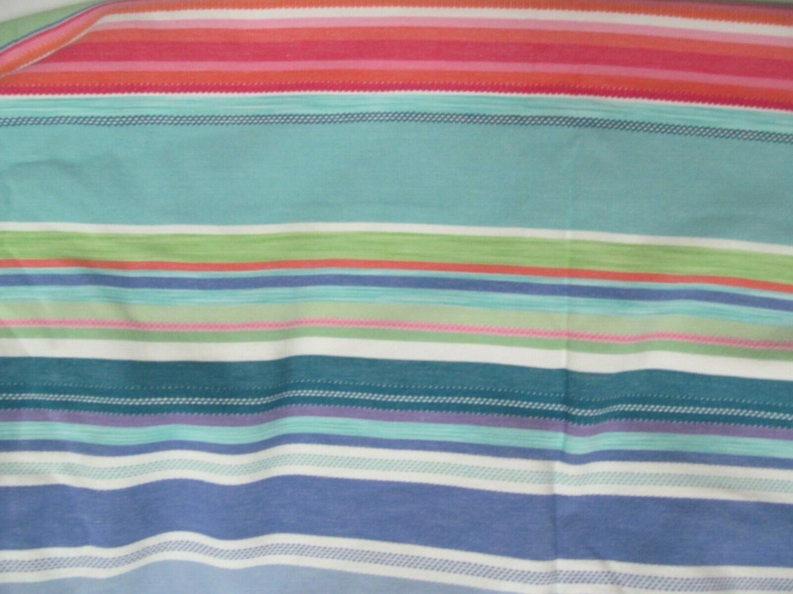 Pottery Barn Teen Colorful Striped Twin Duvet Cover Heavy Duty Cotton Wahine - $48.99