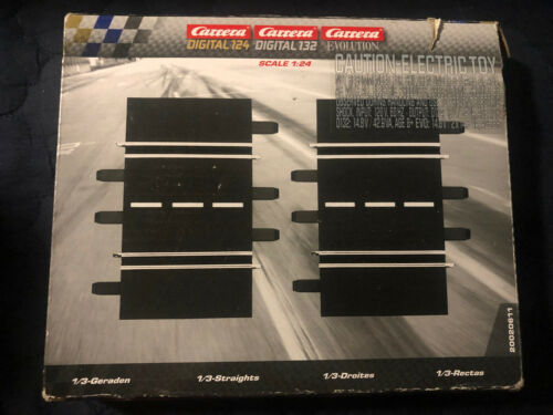 Carrera Of America Digital/Evolution 1 24 Scale 1/3 Straights 2 Pieces 20020611 - $24.95