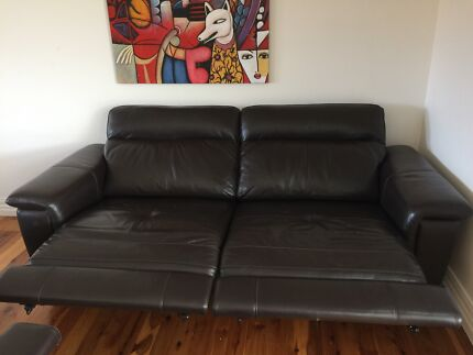 Two beautiful leather recliners