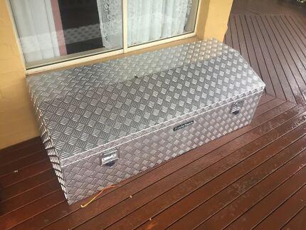 Checker plate tool box