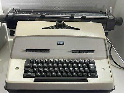 1967 Vintage Ibm Executive Model D Electric Typewriter With Paperwork