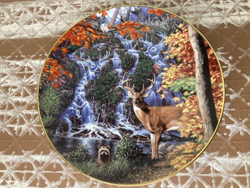 Danbury Mint Stag Falls Collector Plate by John Van Straalen Fall Wall Decor