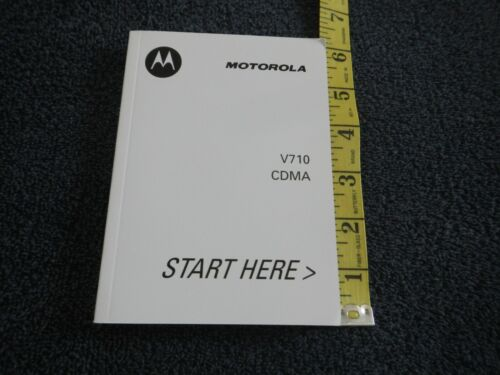 INSTRUCTION MANUAL - MOTOROLA (VERIZON) - V710 - USER GUIDE - FLIP CELL PHONE