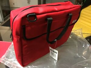 Red Laptop Bag Briefcase RRP $79.95 NEW - CAN POST