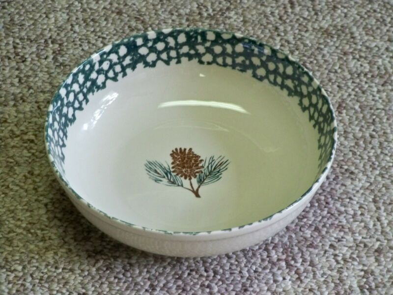 TIENSHAN FOLK CRAFT PINE CONE SERVING VEGETABLE BOWL