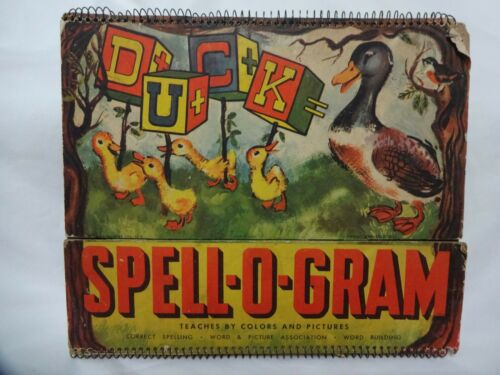 Vintage Spelling Board Activity book, c 1920