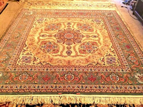 Master Piece Silk & Wool Hand knotted PERSIANN Rug Carpet Signed