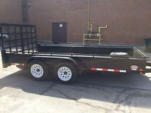 Action 7x14 Tandem axle utility / work / bobcat open trailer