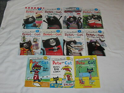 11 Pete The Cat & Splat The Cat Level Readers Shared My First Reading and 1