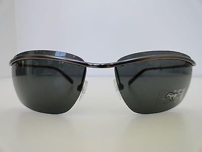 MUSTANG Vintage Men Sunglasses 100%UV400 Metal/Gray Lenses (Mustang Sunglasses)