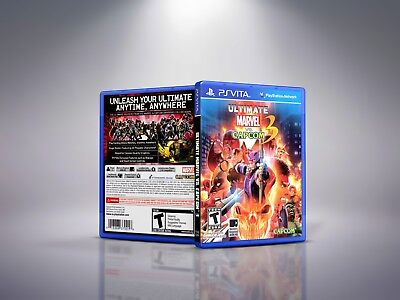 Ultimate Marvel vs. Capcom 3 - Replacement PlayStation Vita Cover & Case.NO GAME for sale  Shipping to India