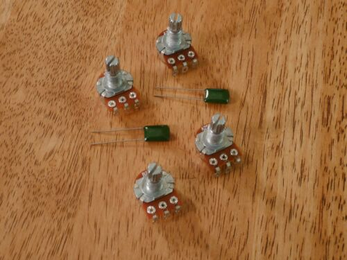 4 PIECE SET CONTROL POTS POTENTIOMETERS A25K B25K FOR ACTIVE PICKUPS