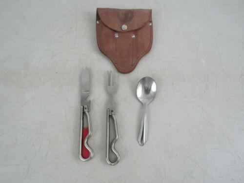Vintage Boy Scouts Of America Utensils Geo Schrade Knife Fork & Allegheny Spoon