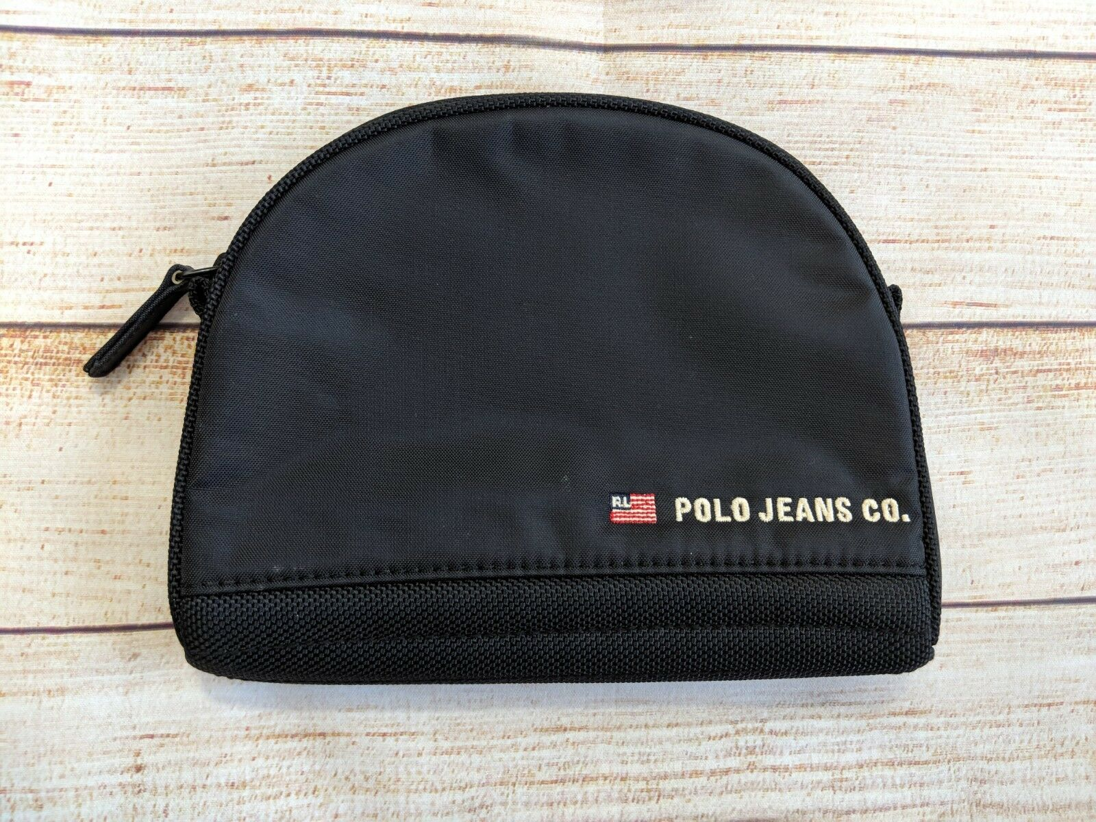 Polo Jeans Ralph Lauren Toiletry Travel Lavatory Zip Kit Black - $6.49