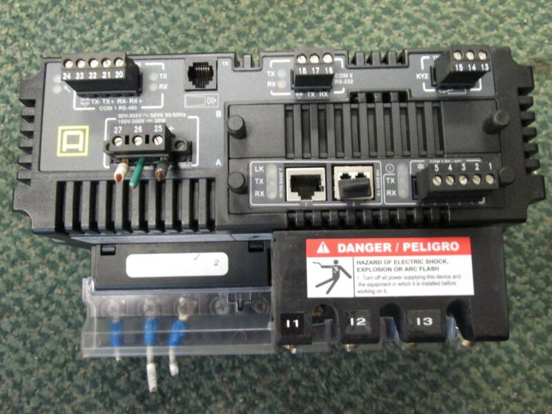 Square D PowerLogic CM4000T KYZ: 240VAC 300VDC 96mA Max PowerLogic CVMT Used