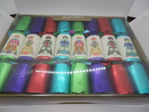 World Market Holiday Christmas Party Crackers 8 Pk Love/Peace/Joy NEW