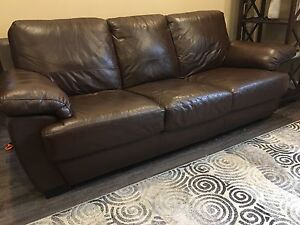 Matching leather couch/chair