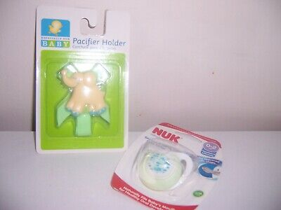 elephant pacifier clip  Nuk Soothes and Calms 0-2 mnths   pacifier new